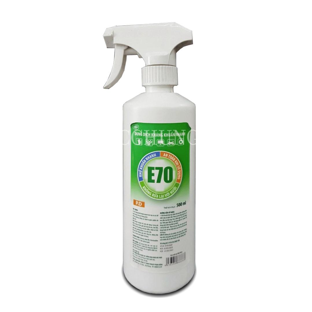 Nước xịt khử trùng E70