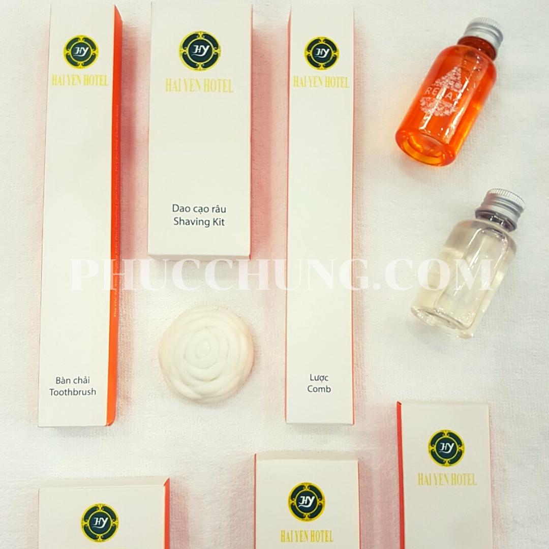 Bộ Amenities hộp giấy cam (KS Hải Yến)