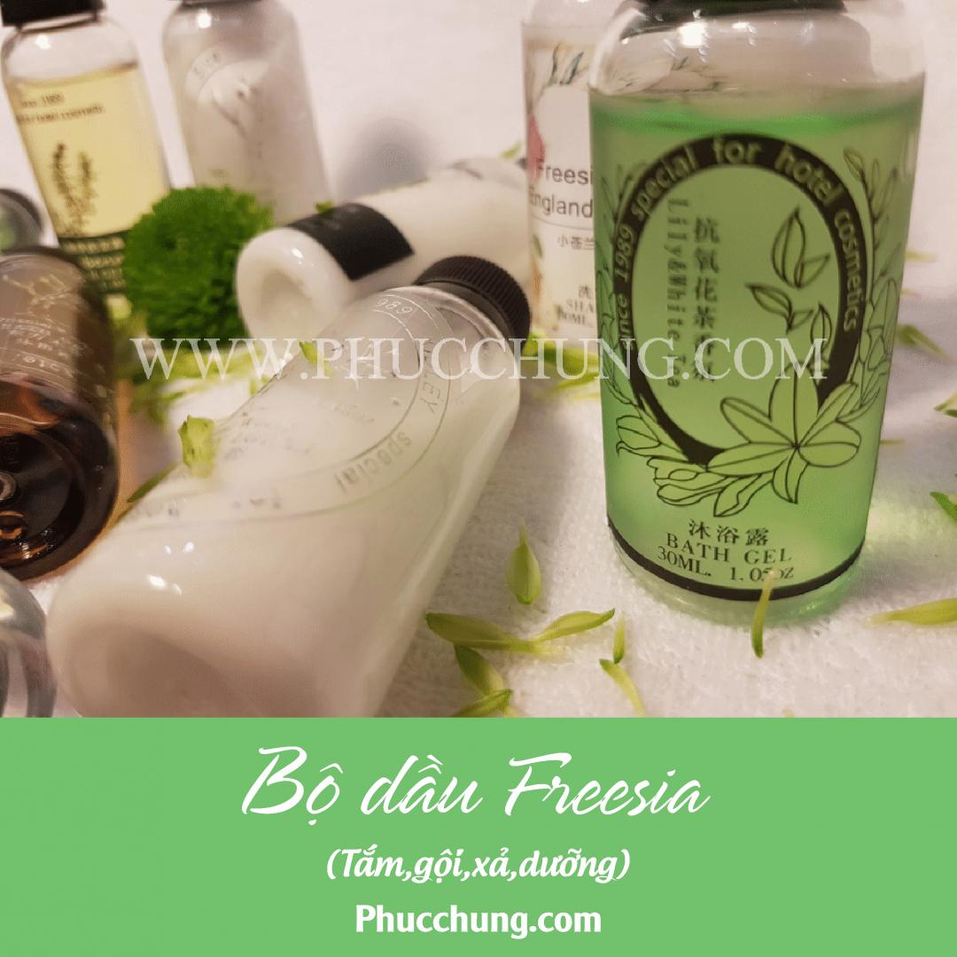 Bộ dầu Freesia (tắm,gội,xả,dưỡng)