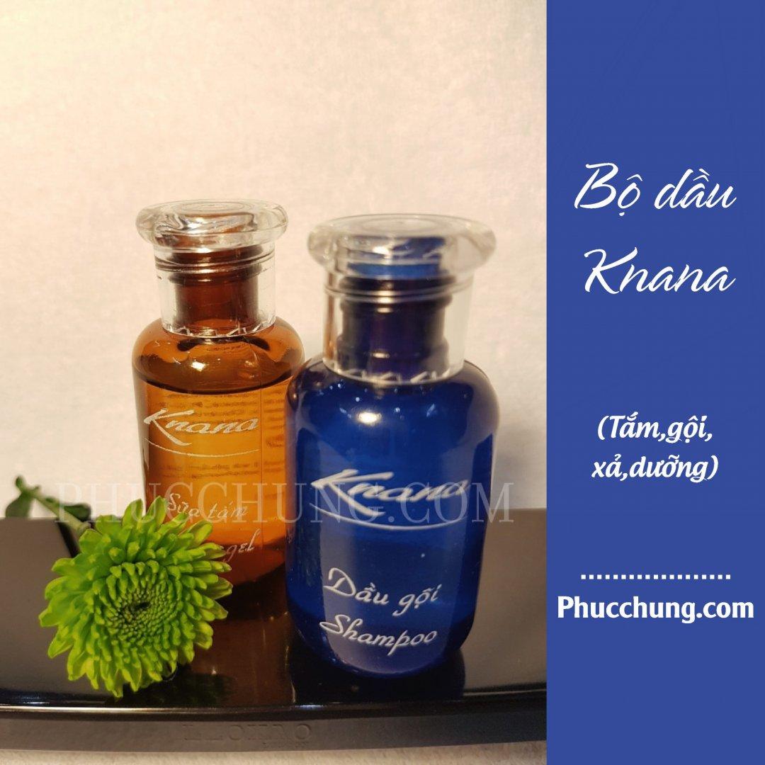Bộ dầu mini Knana (tắm,gội,xả,dưỡng)