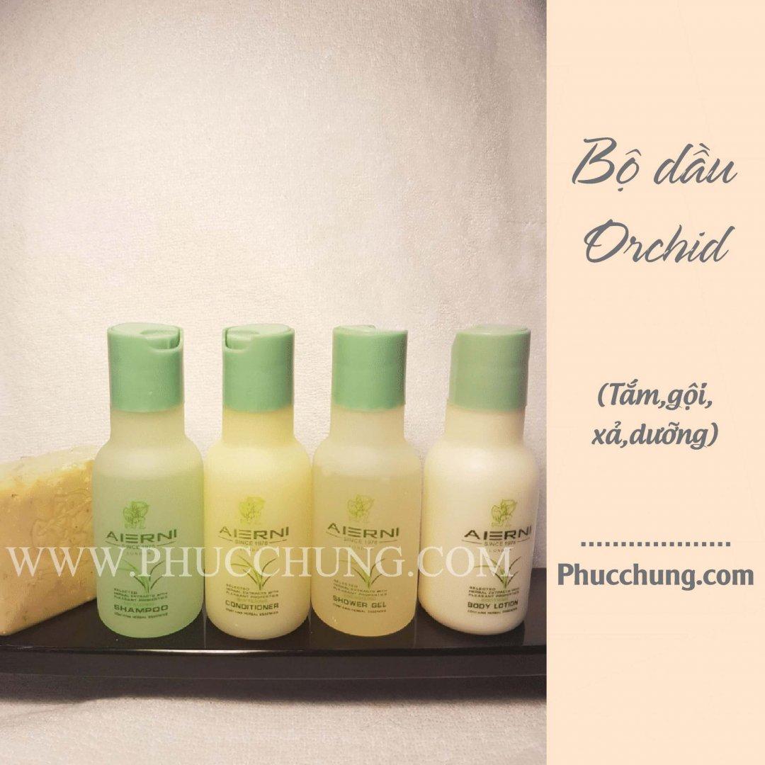 Bộ dầu Orchid (tắm,gội,xả,dưỡng)