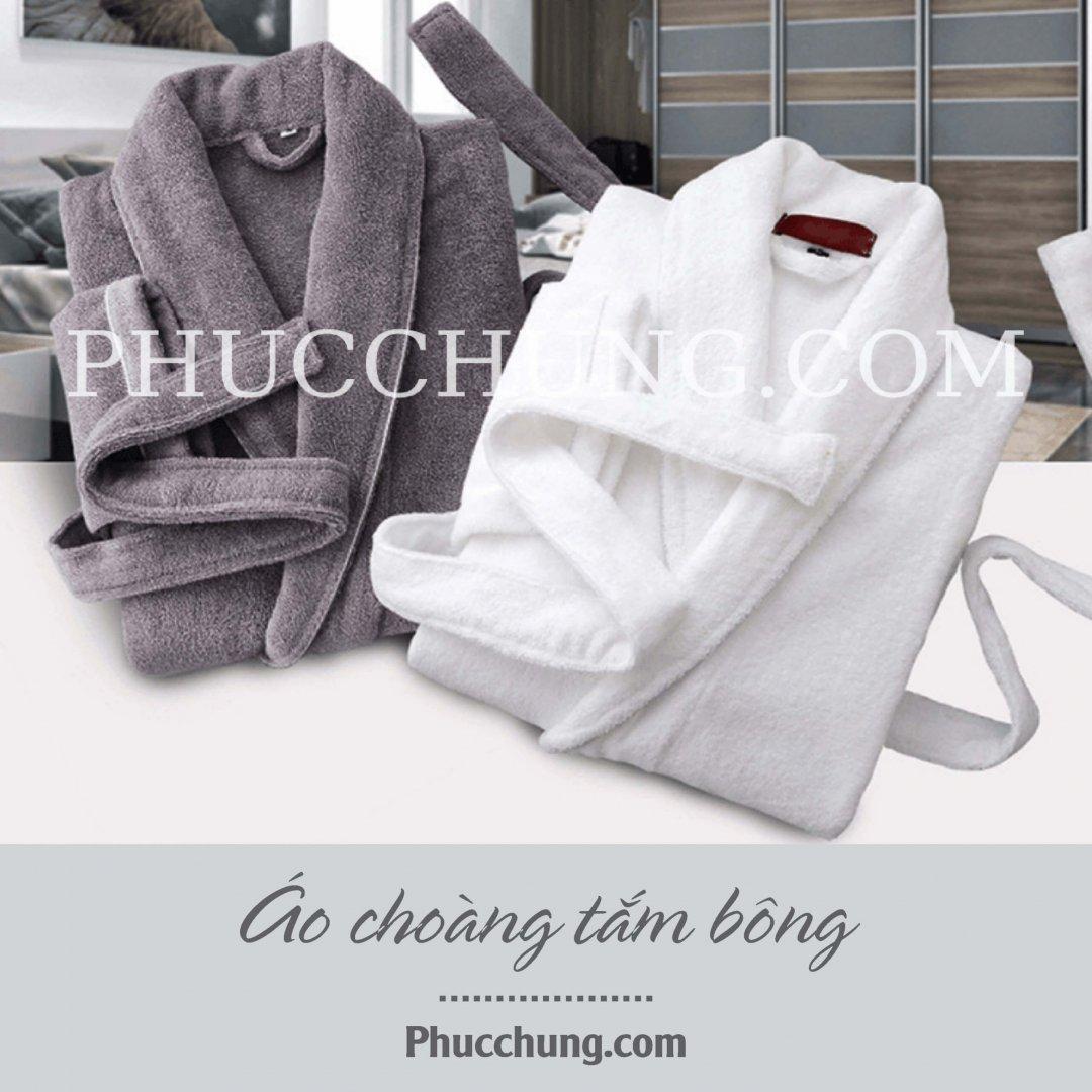 Áo choàng tắm bông