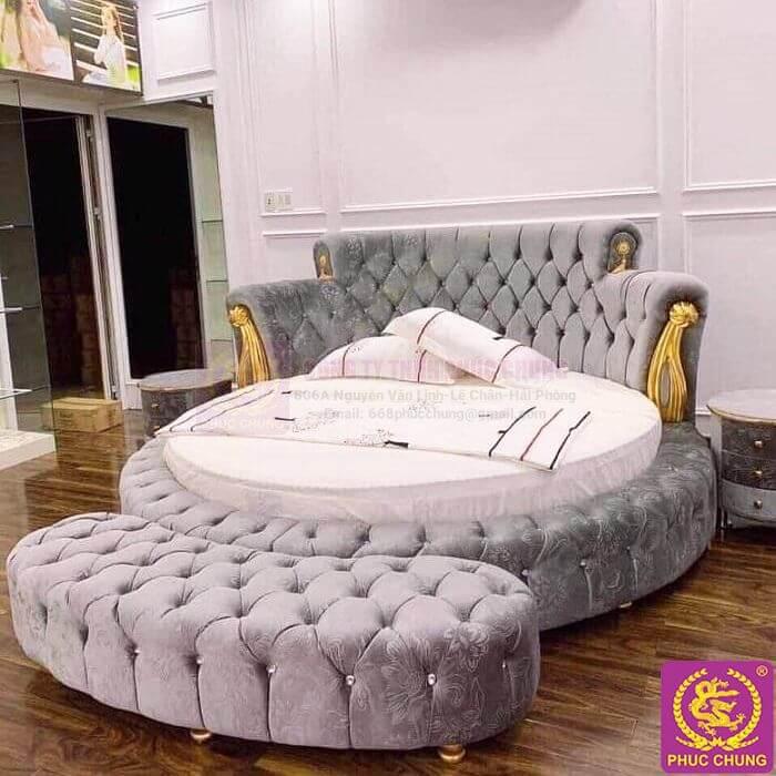 Giường + đệm tròn 04
